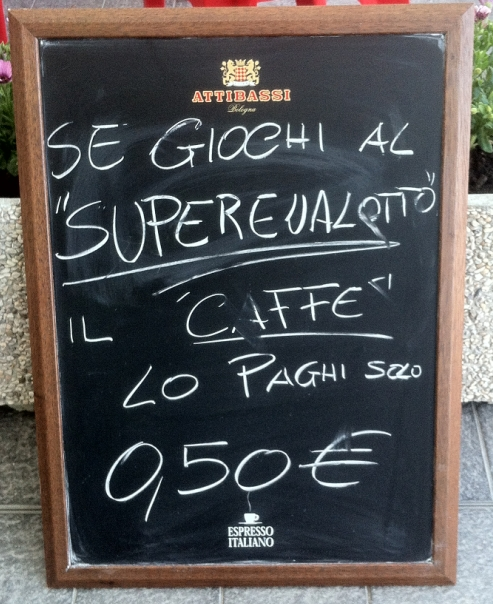 Offerta caffè e Superenalotto