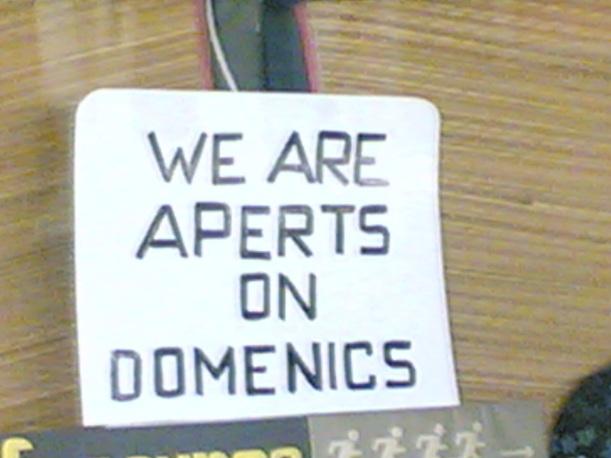 We are aperts on domenics
