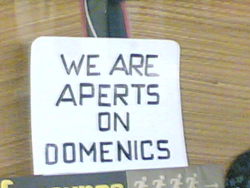 We are aperts on domenics