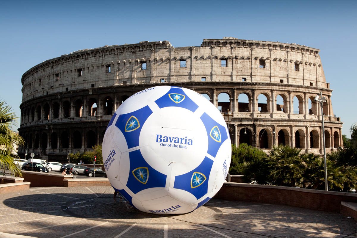 Bavaria guerrilla marketing a Roma