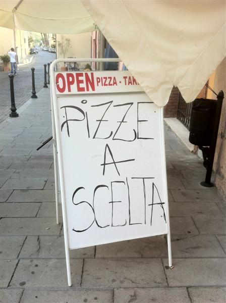 pizze a scelta