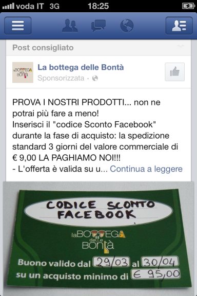 Il marketing dal basso, su Facebook